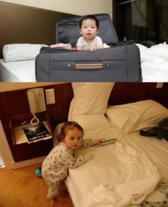 What should accommodation be like for the baby's first vacation?